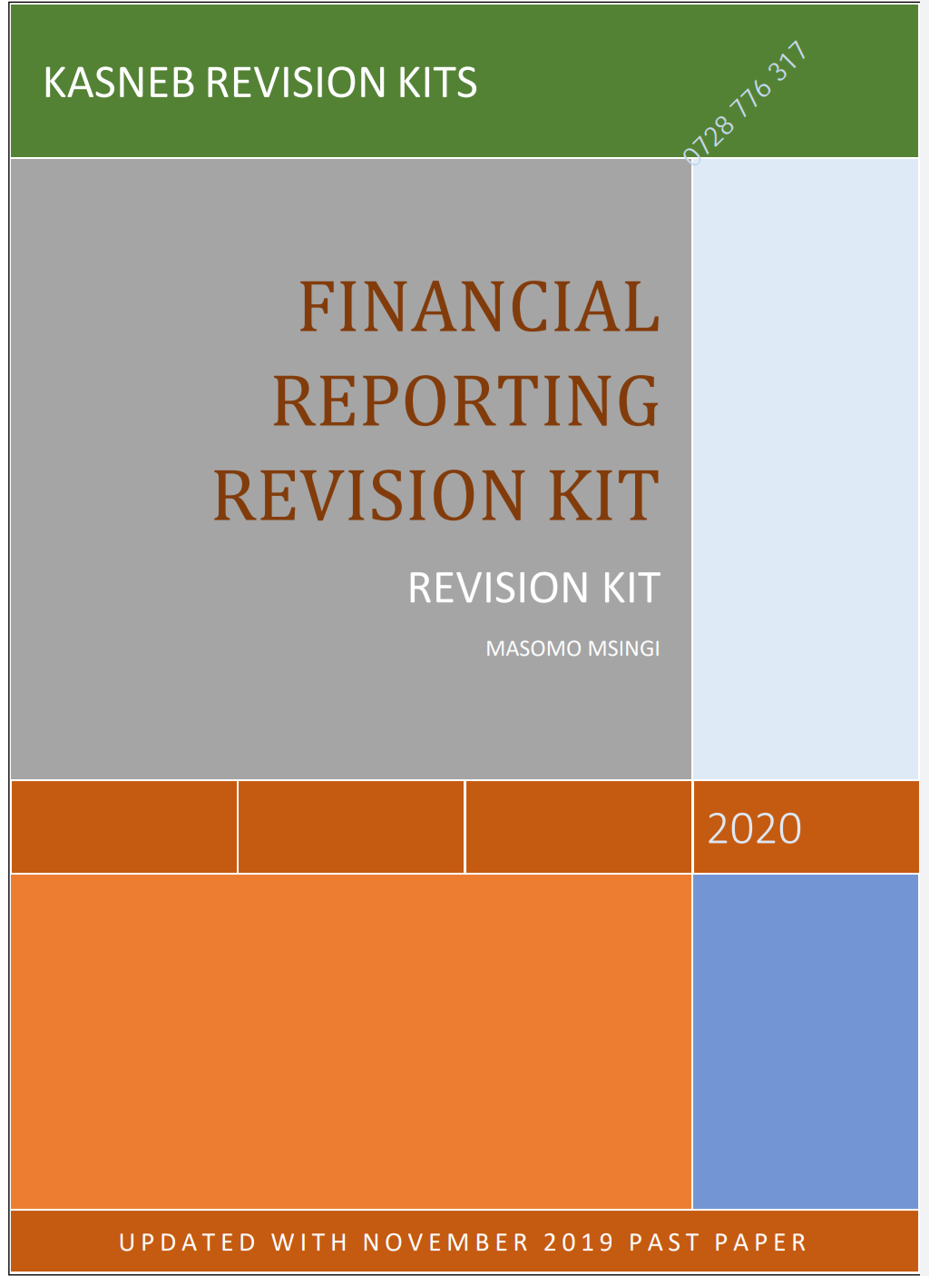 FINANCIAL REPORTING QUESTION AND ANSWER