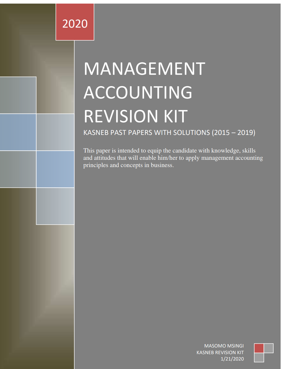 MANAGEMENT ACCOUNTING REVISION KIT